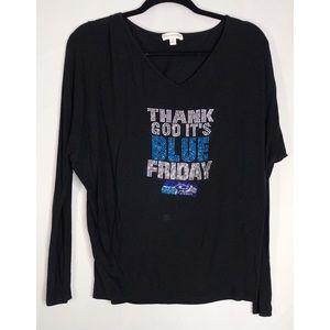 Seattle Seahawks nfl blue Friday long sleeve M